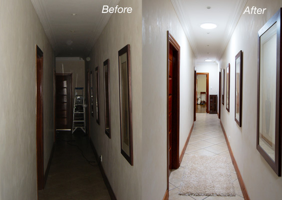 Solatube Hallway Before and After