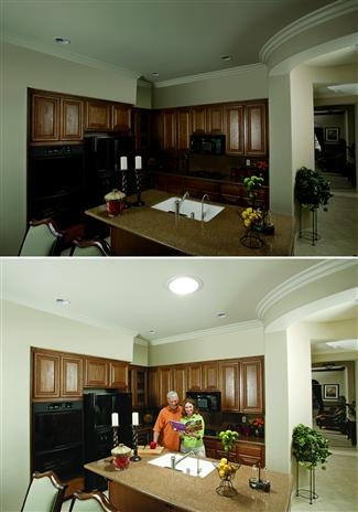 Solatube Kitchen Before and After
